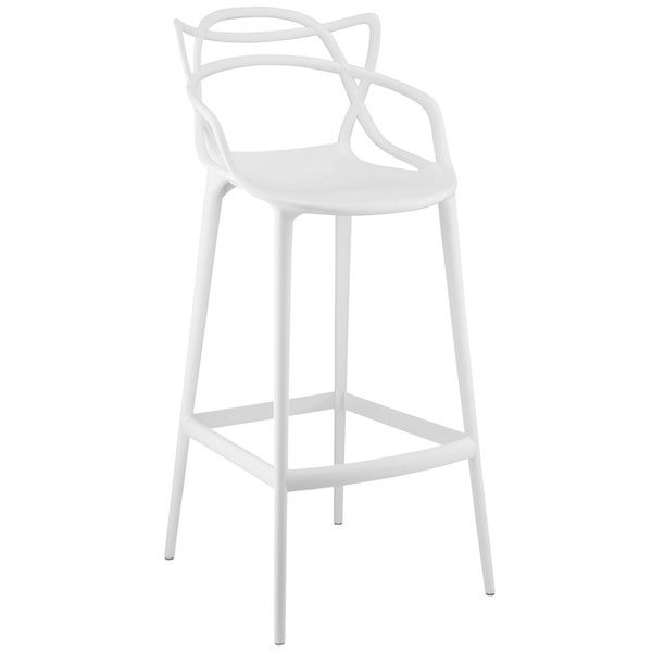 ... modway plastic entangled bar stool free shipping today 16817108 · molded ...  sc 1 st  Helen Mirren & White Plastic Bar Stools White Plastic Bar Stool O Bamboo Style ... islam-shia.org