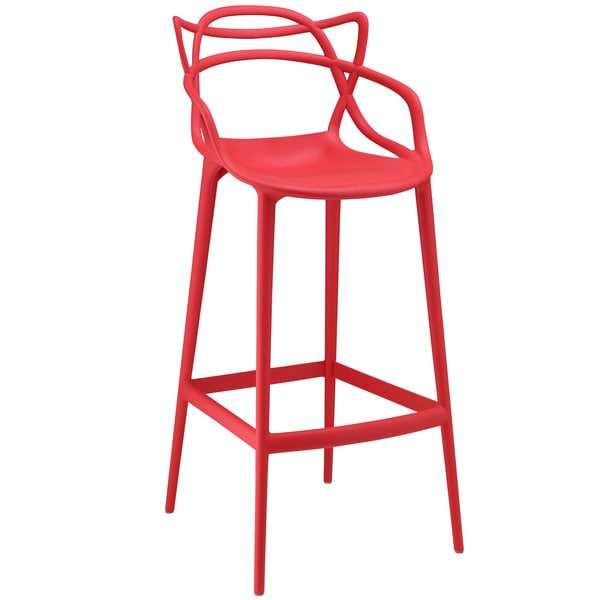 Shop Modway Plastic Entangled Bar Stool Free Shipping