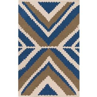 Hand-woven Dagenham Reversible Wool Rug (8' x 11')