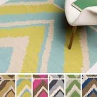 Hand-woven Dagenham Reversible Wool Area Rug (8' x 11')