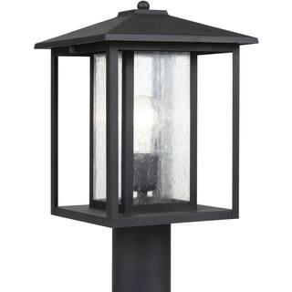 Sea gull lighting outdoor lighting for less overstock sea gull lighting hunnington black one light outdoor post lantern with clear glass aloadofball Images