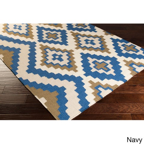 Hand-woven Freda Reversible Wool Area Rug (2' x 3')
