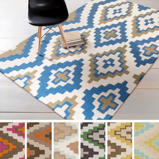 Hand-woven Freda Reversible Wool Rug (5' x 8')