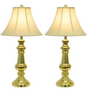 Laurel Creek Linden Polished Brass Table Lamps