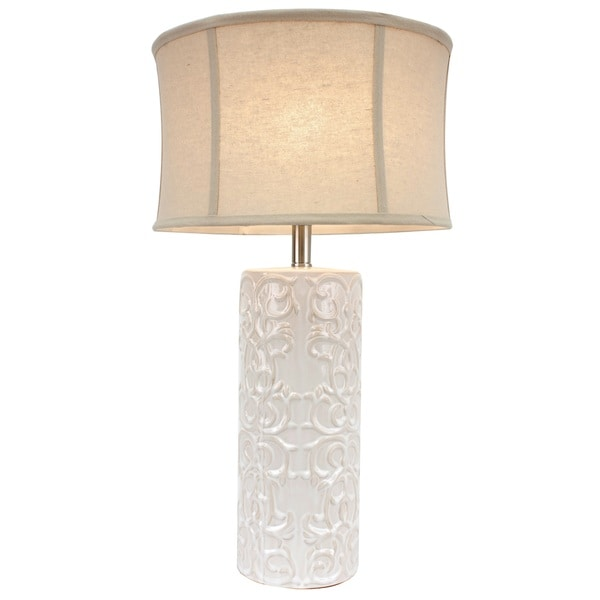 Shop White Ceramic Table Lamp Free Shipping Today