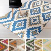 Hand-woven Freda Reversible Wool Area Rug - 8' x 11'