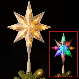11 inch bethlehem star 10 led tree topper