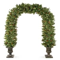 8.5-foot Wintry Pine Archway in Dark Bronze Fiberglass Pot