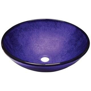 642 Foil Undertone Purple Glass Vessel Sink