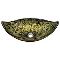 643 Foil Undertone Leaf Glass Vessel Sink