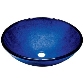 MR Direct 644 Foil Undertone Royal Blue Glass Vessel Sink