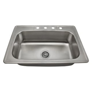 MR Direct US1030T Single Bowl Topmount Stainless Steel Sink