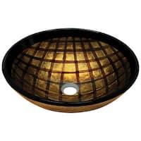 635 Foil Undertone Glass Vessel Sink