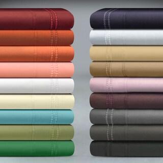 Superior Wrinkle Resistant Embroidered Microfiber Deep Pocket Sheet Set