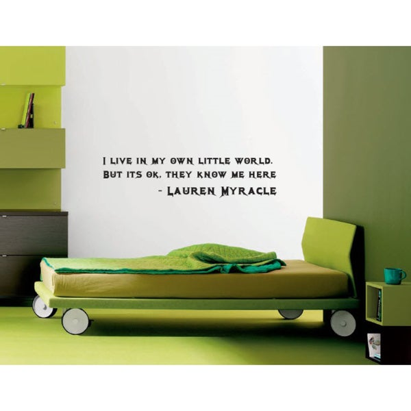 Wall Vinyl Art Home Interior Sticker Quote About Home World Free