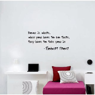Wall Vinyl Art Home Interior Sticker Quote About Home Robert Frost