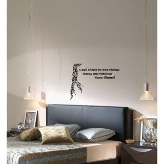 Wall Vinyl Art Home Interior Sticker Quote Phrase About Beauty Fashion