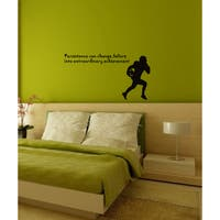 Wall Vinyl Art Home Interior Sticker Quote Phrase About Sport American Football - Black