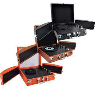 Pyle PVTTBT88 Vinyl Record Turntable with Bluetooth, MP3 Recording and Fold-out Speakers (Option: Orange)|https://ak1.ostkcdn.com/images/products/9632097/P16817504.jpg?impolicy=medium