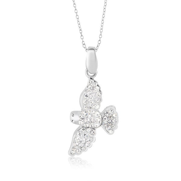 Sterling silver plated crystal seagull pendant 18 inch necklace sterling silver plated crystal seagull pendant 18 inch necklace mozeypictures Gallery
