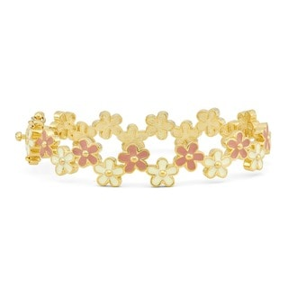 Junior Jewels Enamel Flower Bangle