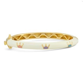 Junior Jewels Enamel Multi-color Royal Crown Bangle