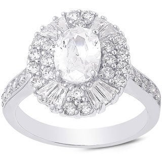 Dolce Giavonna Sterling Silver Cubic Zirconia Solitaire Ring