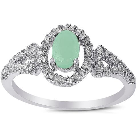 Dolce Giavonna Sterling Silver Gemstone and Cubic Zirconia Ring