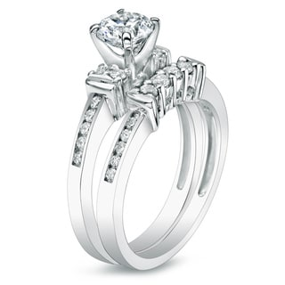 Auriya 14k Gold 1ct TDW Diamond 5-stone Engagement Ring Set
