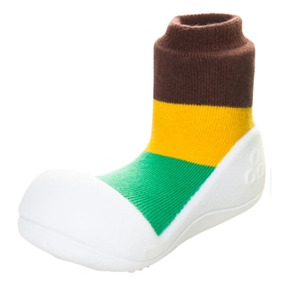 Attipas Infant Brown Colorblocked Cotton and Rubber Shoes