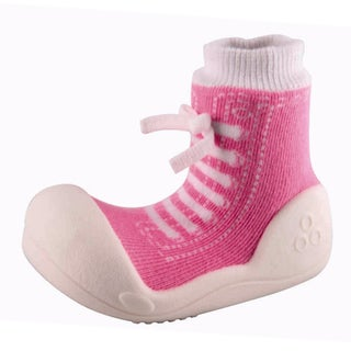 Attipas Infant Pink Cotton and Rubber Shoes
