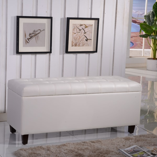 Shop Royal Comfort Collection Luxury Storage Bench Ottoman