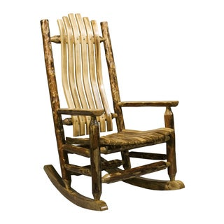 Montana Woodworks Glacier Country Collection Log Rocker