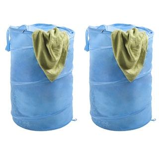 Lavish Home Pop-up Zipper Top Laundry Hamper (Set of 2)