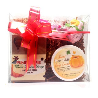 Handmade Pumpkin Bliss Gift Set (Artisan Soap, Pumpkin Butter Bliss and Bubble Bath Truffle)