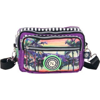 Nicole Lee Hollywood Print Wrinkle-resistent Crinkle Nylon Multi-bag