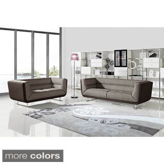 Sarah Fabric 2-piece Sofa and Loveseat Set