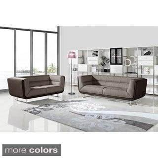 Sarah Fabric 2-piece Sofa and Loveseat Set
