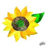 Eric Carle The Very Hungry Caterpillar Character Art Sunflower 2 Canvas Print - Multi-color