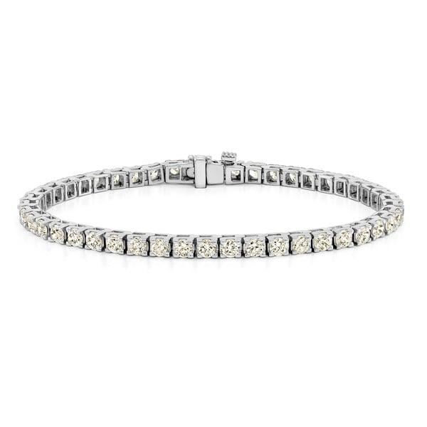 Auriya 14k Gold Round Diamond Tennis Bracelet 1 1/2 to 12ctw 7-inch. Opens flyout.