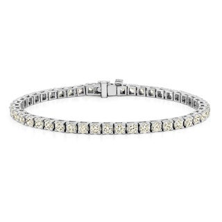 Auriya 14k Gold 1 1/2ct to 12ct TDW Diamond Tennis Bracelet (H-I, SI1-SI2)