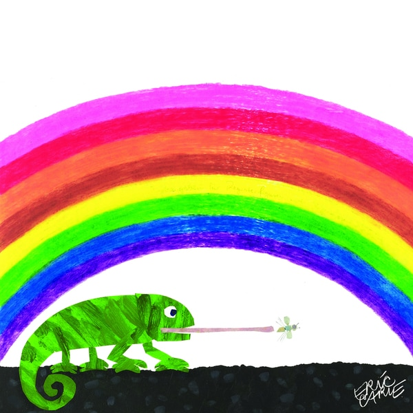 shop eric carle the mixed up chameleon character art rainbow canvas