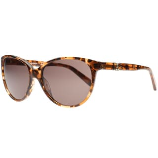 Dolce & Gabbana Women's Brown Marble Plastic Cat Eye Sunglasses