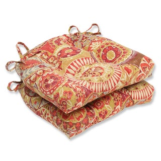 Pillow Perfect Indira Cardinal Reversible Chair Pads (Set of 2)