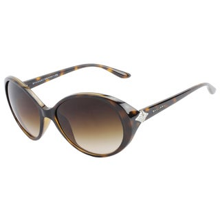 Bvlgari Women's Havana Plastic Fashion Sunglasses
