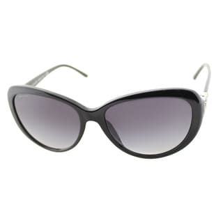 Bvlgari Women's 'BV 8131B 501/8G' Shiny Black Cat Eye Sunglasses