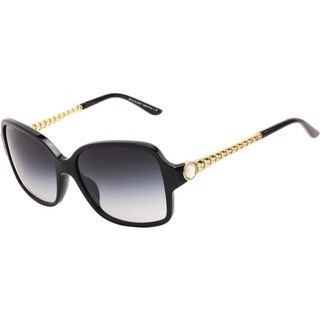 Bvlgari Women's 'BV 8125H 501/8G' Black and Gold Fashion Sunglasses
