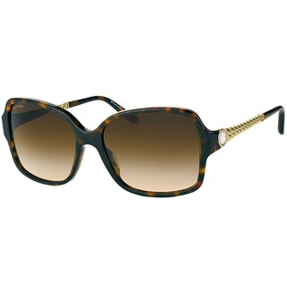 Bvlgari Women's 'BV 8125H 504/13' Dark Havana and Gold Sunglasses