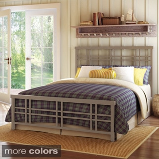 Amisco Heritage 60-inch Queen-size Metal Headboard and Footboard
