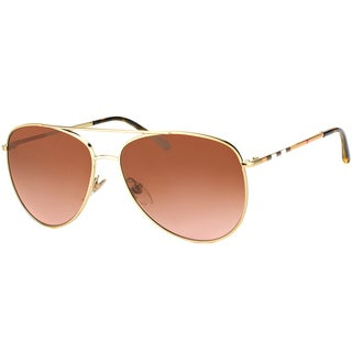 Burberry Women's 'BE 3072 114513' Burnerry Goldtone Aviator Sunglasses